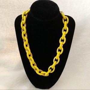J.CREW Yellow Enamel Oval Link Statement Necklace